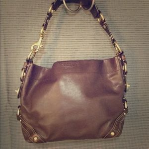 Authentic Coach Purse (Chocolate brown leather)